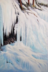 Icefall At Johnston Canyon
