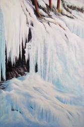 Icefall At Johnston Canyon